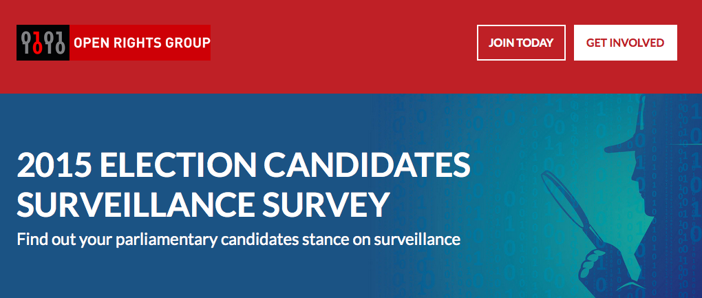 Election survey website screen shot