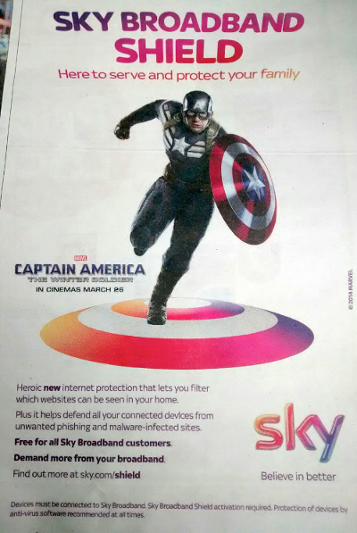 Sky's Captain America advert