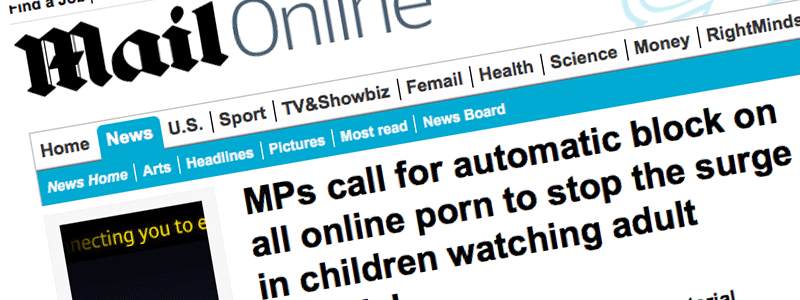 """Daily Mail campaign. """"Adult content"""" blocking"""
