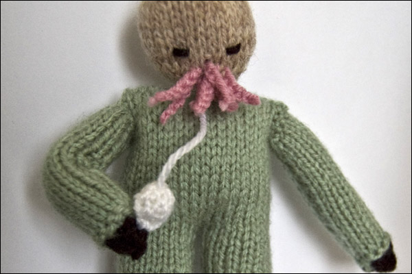 An Ood, knitted by Mazz